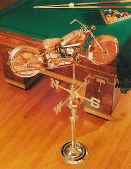 Large Motorcycle Weathervane