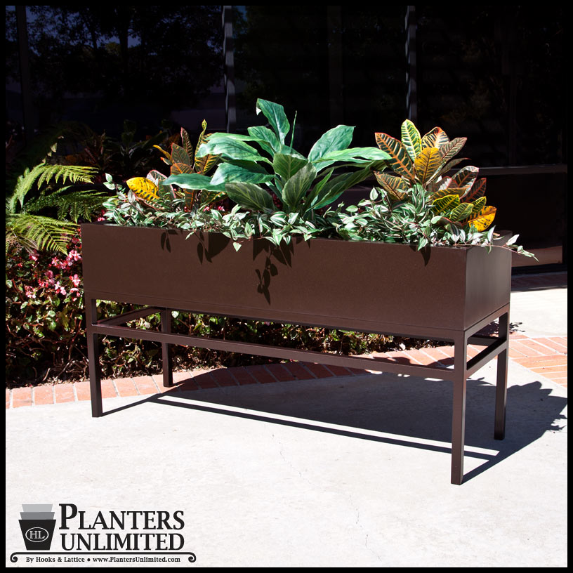 Large office planters on metal plant stands planters unlimited large office planters with metal plant stands click to enlarge workwithnaturefo