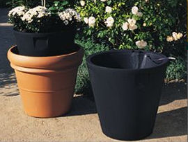 Large Round Tapered Self Watering Pot And Planter Inserts Click To Enlarge