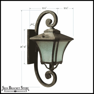 Large Scroll Wall Fixture - 120V