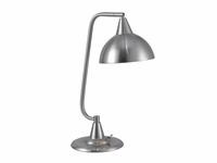 Large Shade Desk Lamp - Brushed Steel
