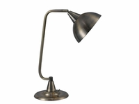 Large Shade Gooseneck Light - Antique Brass