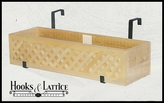 Sand Rail Baskets : Lattice hanging rail planters