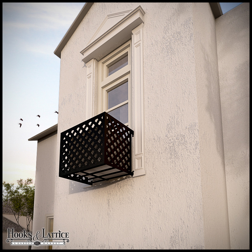 Wrought Iron Air Conditioner Cages By Hooks Amp Lattice