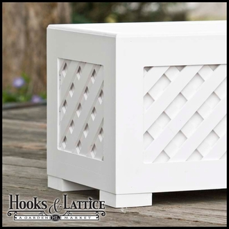 "Lattice Premier Deck Planter w/ Feet 48""x12""x12"""