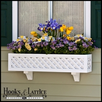 "Lattice Premier Window Box w/ ""Easy Up"" Cleat Mounting System"