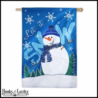 """Let it Snow!"" Christmas Flag"
