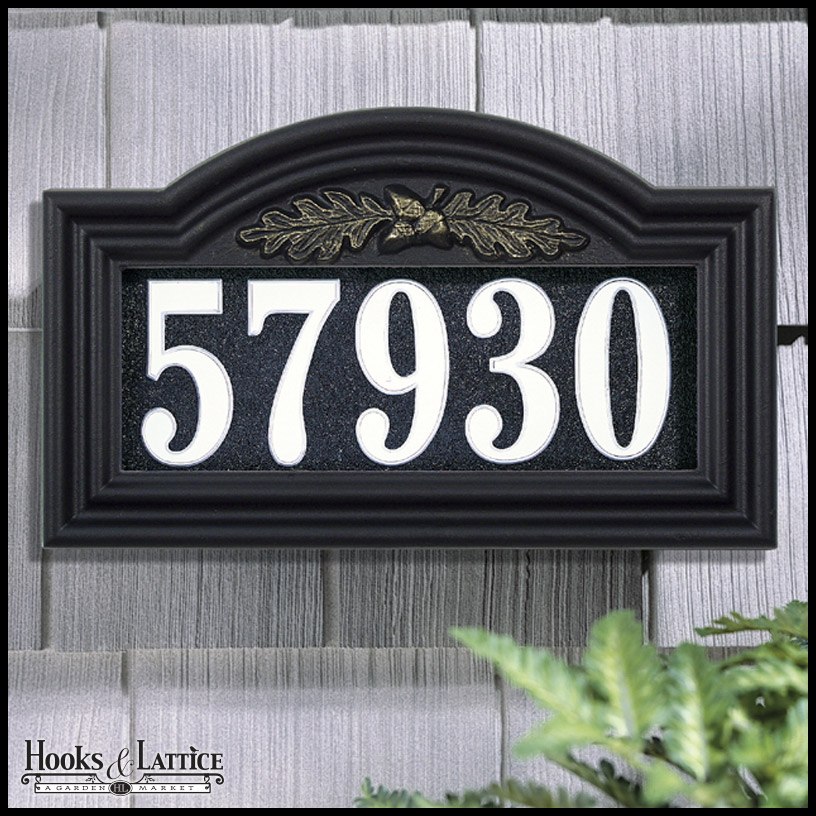 distinctive lighted address plaques signs by hooks lattice. Black Bedroom Furniture Sets. Home Design Ideas