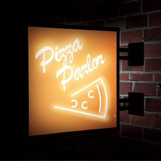 Lighted Wall Mount Sign Brackets