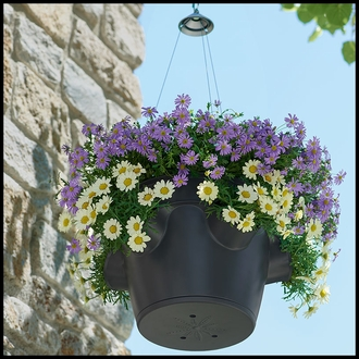 Lightweight Hanging Basket with Holes