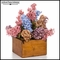 Lilac Garden Mix Arrangement in Rustic Wood Container