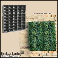 "Living Wall Planter with Mounting Bracket - 20""W x 20""H"