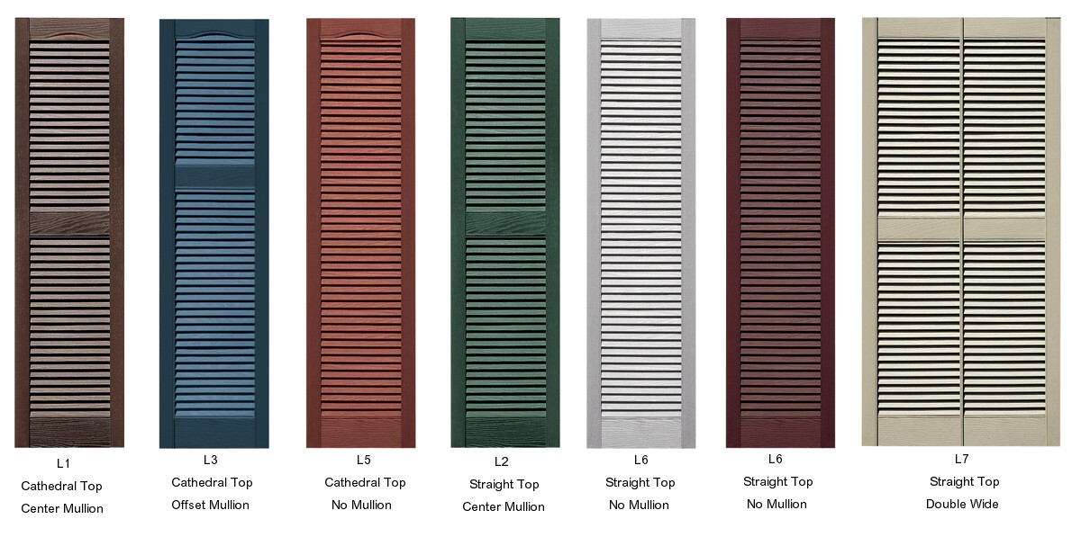 Vinyl Louvered Doors 31