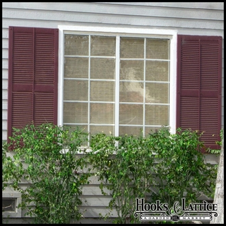 Louvered Decorative Vinyl Exterior Shutters