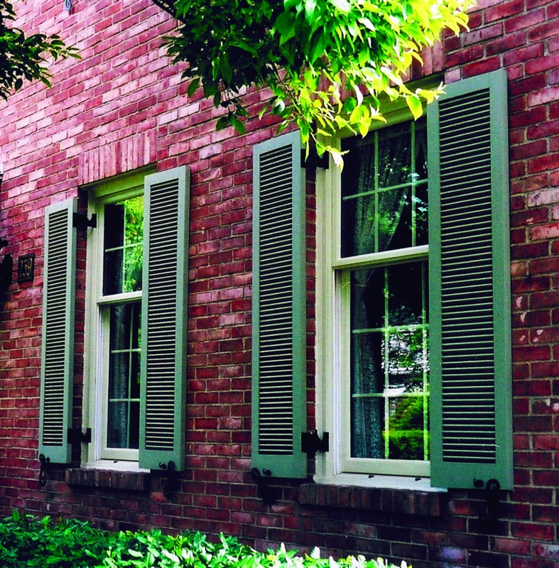 fixed louvered exterior shutters window shutters hooks and lattice ForExterior Louvered Window Shutters