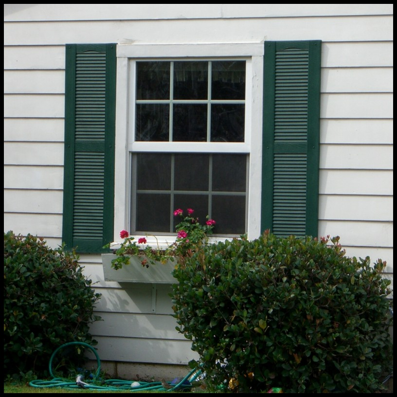 Fixed Louvered Exterior Shutters, Window Shutters | Hooks and Lattice