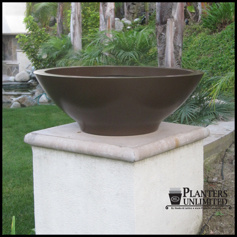 Excellent Outdoor or Indoor Low Bowl Planters, Custom Sizes, Styles and Finishes FB89
