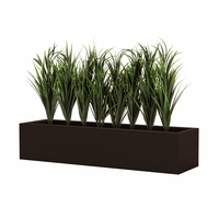 Lush Grass in Low 8in.H Modern Planter, Outdoor Rated