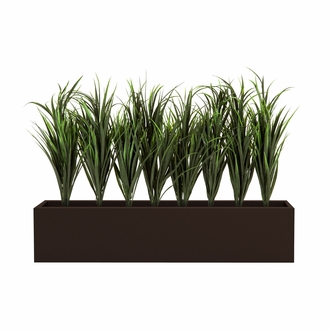 Lush Grass in Medium 24in.H Modern Planter, Outdoor Rated