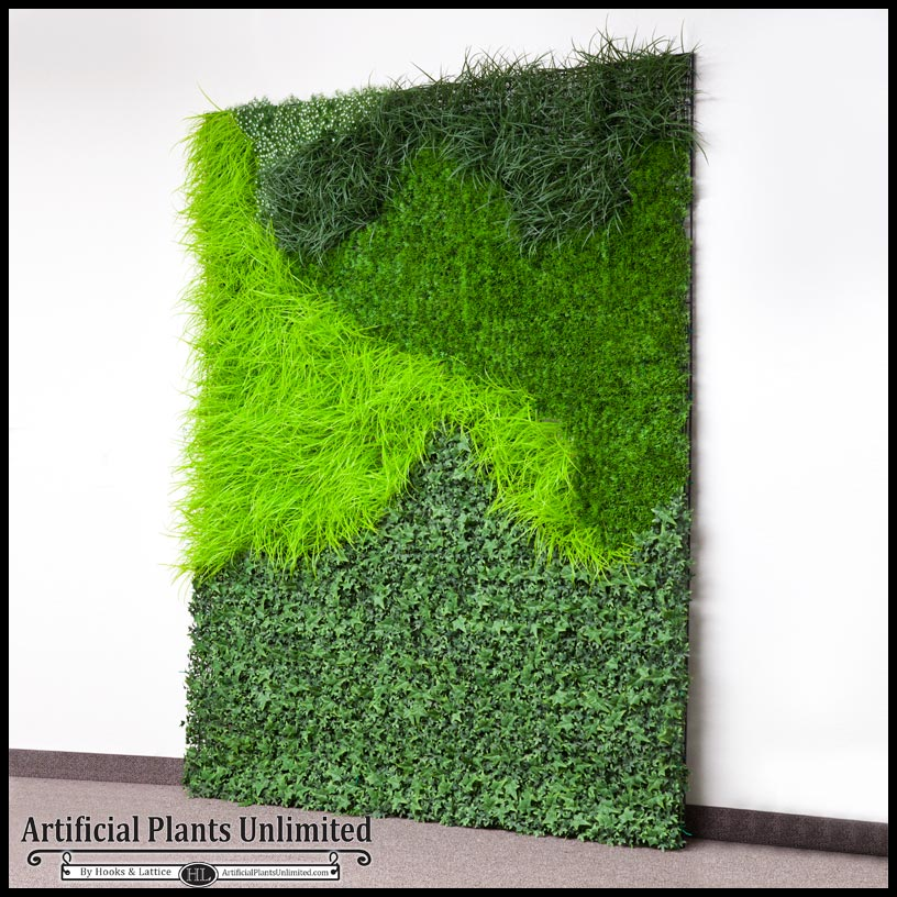 Faux Plant Wall Green Wall Grasses Artificial Plants
