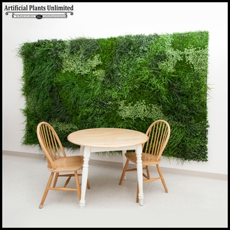 Lush Indoor Artificial Living Wall 96in.L x 60in.H