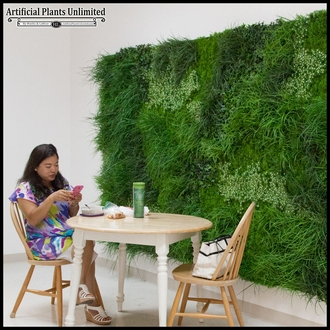 Lush Indoor Artificial Living Wall 96in.L x 72in.H