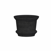 Lynx Round Cast Stone Planter 25in.D x 19in.H