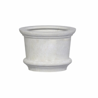 Lynx Round Cast Stone Planter 35in.D x 25in.H