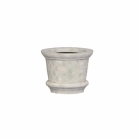 Lynx Round Cast Stone Planter 19.5in.D x 15.5in.H