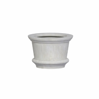 Lynx Round Cast Stone Planter 23in.D x 16in.H