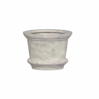 Lynx Round Cast Stone Planter 30in.D x 22.5in.H
