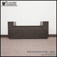 Madera Fiberglass Bench w/ Storage Option (2 Armrests) - 48in.L x 18in.W x 18in.H