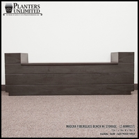 Madera Fiberglass Bench w/ Storage Option (2 Armrests) - 72in.L x 18in.W x 18in.H