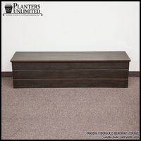 Madera Fiberglass Bench w/ Storage Option - 72in.L x 18in.W x 18in.H