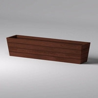Madera Tapered Fiberglass Commercial Planter 108in.L x 24in.W x 24in.H