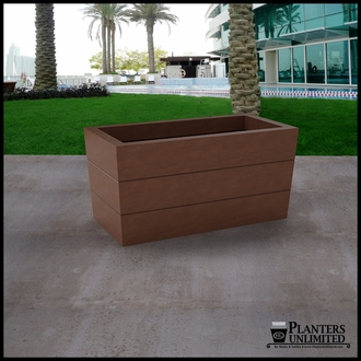 Madera Tapered Fiberglass Commercial Planter 36in.L x 18in.W x 18in.H