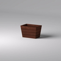 Madera Tapered Fiberglass Commercial Planter 36in.L x 24in.W x 24in.H