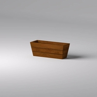 Madera Tapered Fiberglass Commercial Planter 48in.L x 18in.W x 18in.H