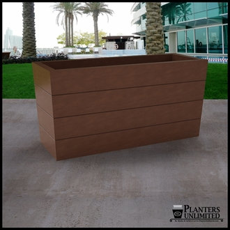 Madera Tapered Fiberglass Commercial Planter 48in.L x 18in.W x 24in.H