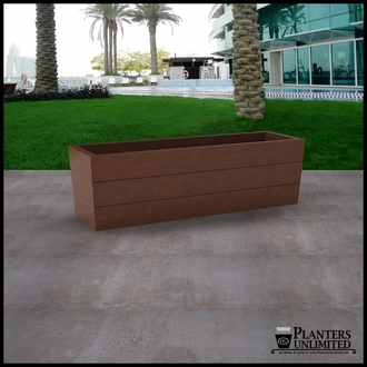 Madera Tapered Fiberglass Commercial Planter 60in.L x 18in.W x 18in.H