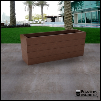 Madera Tapered Fiberglass Commercial Planter 60in.L x 18in.W x 24in.H