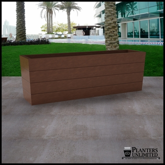Madera Tapered Fiberglass Commercial Planter 72in.L x 18in.W x 24in.H