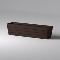 Madera Tapered Fiberglass Commercial Planter 96in.L x 24in.W x 24in.H