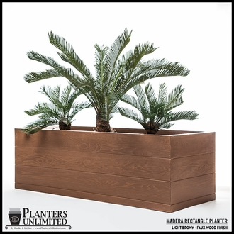 Madera Fiberglass Commercial Planter 60in.L x 18in.W x 24in.H
