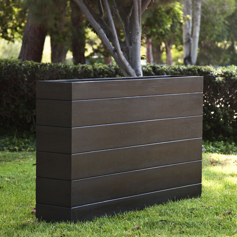 Madera rectangle planter boxes outdoor planters with faux wood finish madera rectangle planter click to enlarge workwithnaturefo