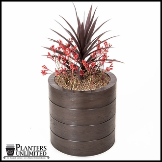 Madera Fiberglass Commercial Planter 24in.D x 18in.H