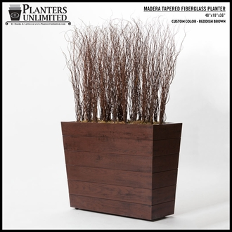 Madera Tapered Fiberglass Commercial Planter 60in.L x 24in.W x 24in.H