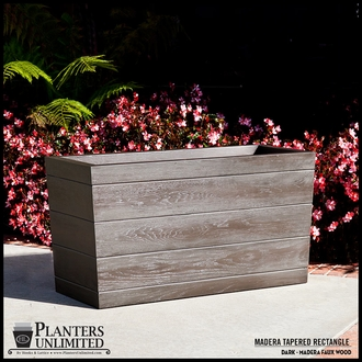 Madera Tapered Fiberglass Commercial Planter 48in.L x 24in.W x 24in.H