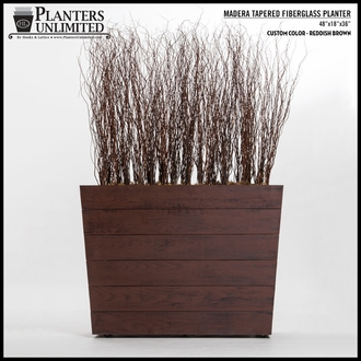 Madera Tapered Fiberglass Commercial Planter 18in.L x 18in.W x 18in.H