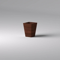 Madera Tapered Fiberglass Commercial Planter 18in.L x 18in.W x 24in.H